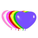 Сердце латексное в ассортименте